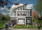 Contoh Desain Tampak Depan Rumah Minimalis Modern 2 Lantai Type 36