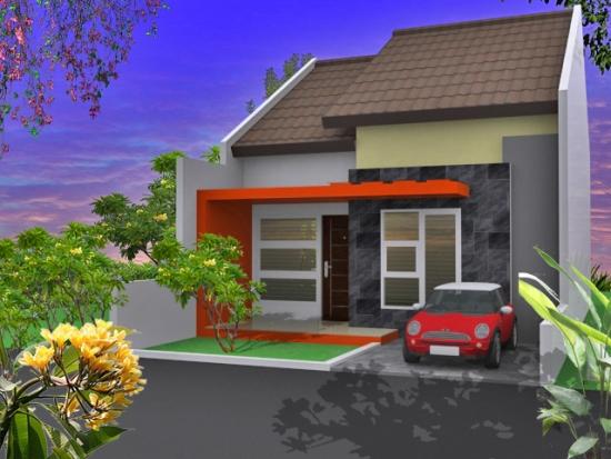 6 type denah desain foto eksterior rumah minimalis