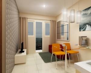 desain interior apartemen type studio bagus