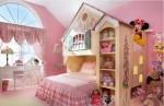 Desain Interior Kamar Tidur Anak Perempuan Ukuran Kecil, Sederhana & Minimalis